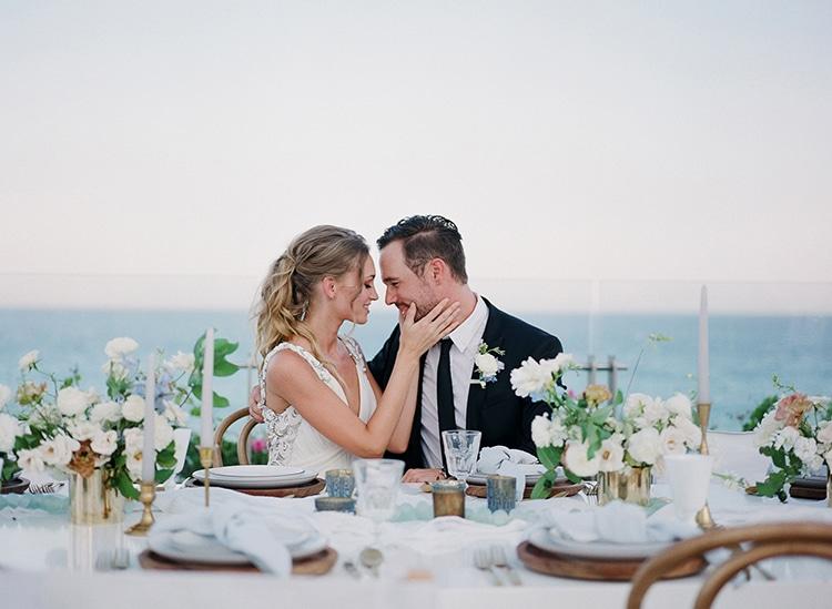 bride and groom in wedding reception