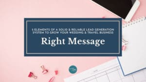 right message quality leads
